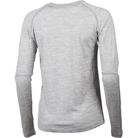 Lundhags Gimmer Merino Light T-shirt à col tunisien Femme, light grey